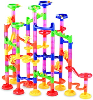 Gifts2U Marble Run Toy, 130Pcs Educational Construction Maze Block Toy Set with Glass..