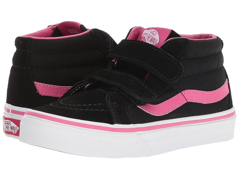 Vans Kids SK8-Mid Reissue V (Little Kid/Big Kid) ((Pop) Magenta/Black) Girls Shoes