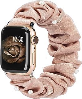 TOYOUTHS Cinturino Compatibile con Apple Watch 38mm 40mm 42mm 44mm Scrunchies Cinturino per iWatch SE Series 6 SE 5 4 3 2 1 s