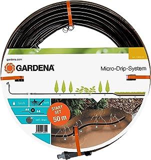 GARDENA Zestaw startowy: podziemna linia kroplująca 13,7 mm do rzędów roślin: oszczędzający wodę wąż kroplujący do precyzy...
