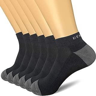 BERING Men's Athletic Low Ankle Running Socks (6 Pack)