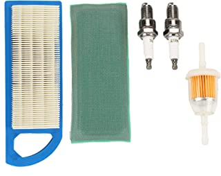 Buckbock Air Filter Fuel Filter Spark Plug Tune Up Kit for John Deere 115 L108 LA105 LA110 LG253 for Briggs & Stratton 698083 394358S 394358S 494768