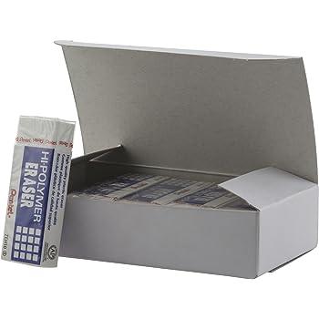 Pentel Hi-Polymer Block Eraser, Large, White, Pack of 10 ZEH-10 Erasers (ZEH10PC10)