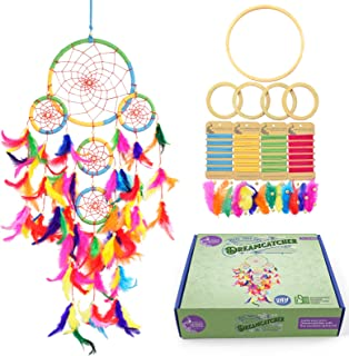 Asian Hobby Crafts DIY Premium Dream Catcher Kit – Make one Complete Multi Ring Dream Catcher (Multicolor)