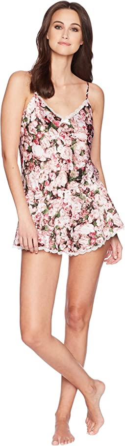 Photoreal Bouquet Satin Romper