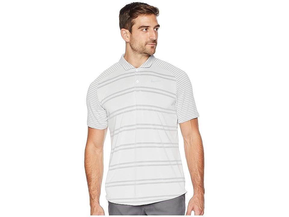 Nike Golf Zonal Cooling Polo Stripe Raglan (White/Flint Silver) Men