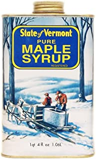 state of vermont pure maple syrup tin