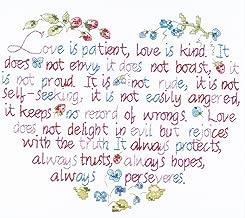 Janlynn Stamped Cross Stitch Kit, Love is Patient
