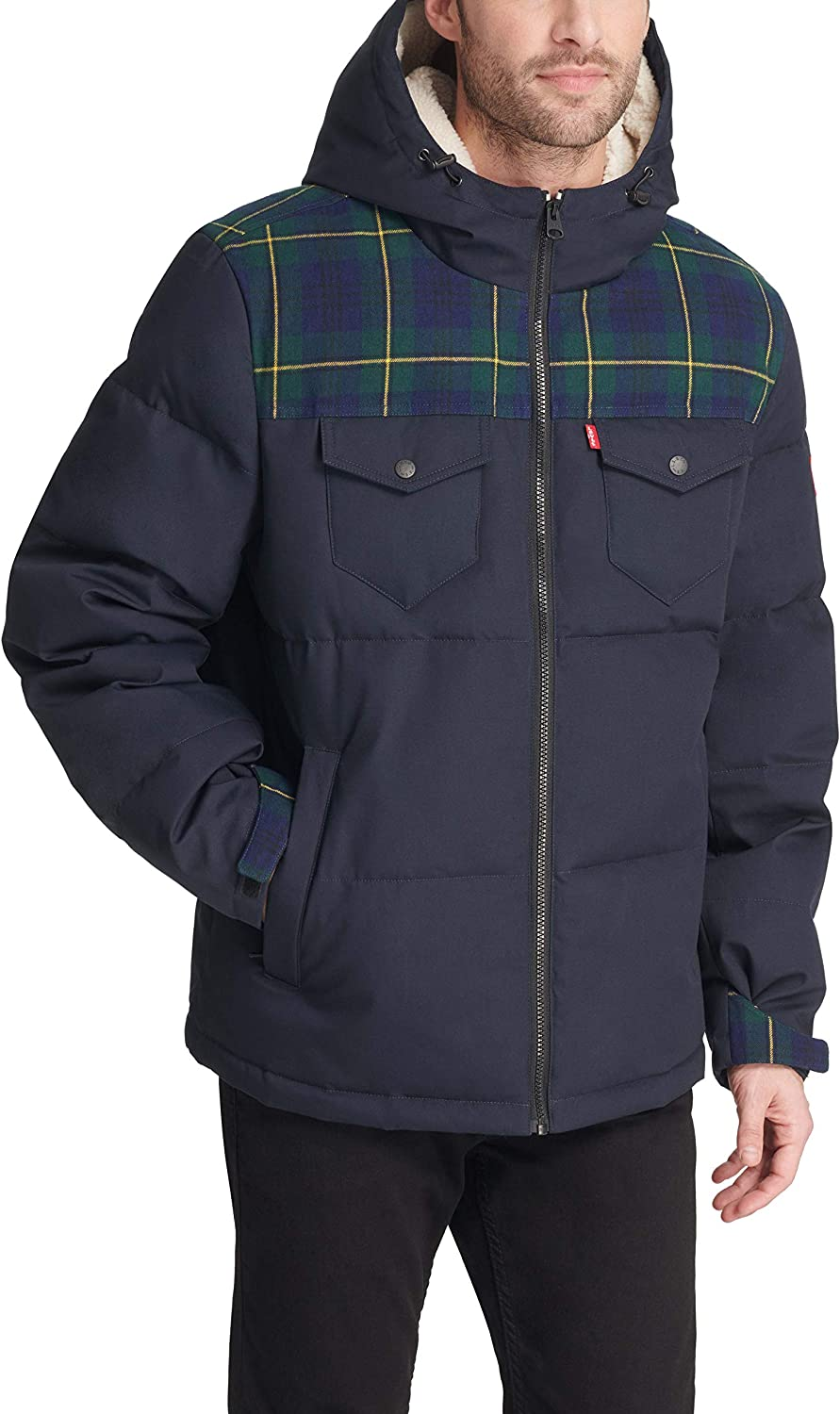 Levi's All items in the store Men's Heavyweight Mid-Length Limited time trial price Puffer Jacke Military Hooded