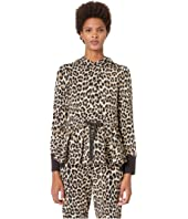 Kate Spade New York Athleisure - Dashing Beauty Leopard Terry Hoodie
