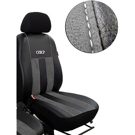 Pokter Gt T5 Transporter Fahrersitz Und Beifahrersitz Maßgefertigte Sitzbezüge Design Gt Dunkelgrau Auto