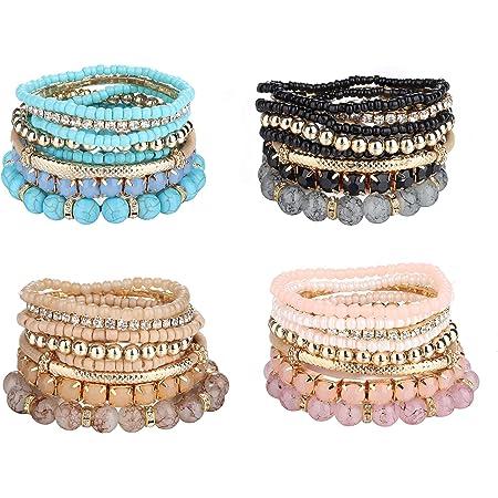 Stack Bracelet Doll Accessories Minikane Bracelet Stretch Bracelet Bohemian Baby Beaded Layer Doll Bracelet Set