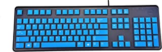 Leze - Ultra Thin Silicone Laptop Keyboard Cover Skin Protector for Dell KB212-B / KB4021 Keyboard - Blue