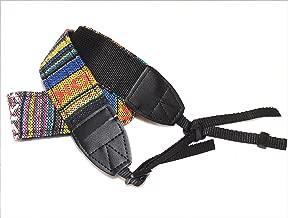 Fotasy Multi-Color Vintage Cotton Camera Neck Strap, Camera Shoulder Belt Strap, Classic Design, Compatible with Canon Fujifilm Nikon Olympus Panasonic Pentax Sony Cameras