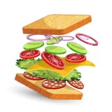 Fold the ingredients by swiping left right up and down. Make custom sandwiches according to your taste. Don't put the toasts on each other until any ingredient is left alone. Enjoy your meal in the end and have fun in reliving one of your childhood e...