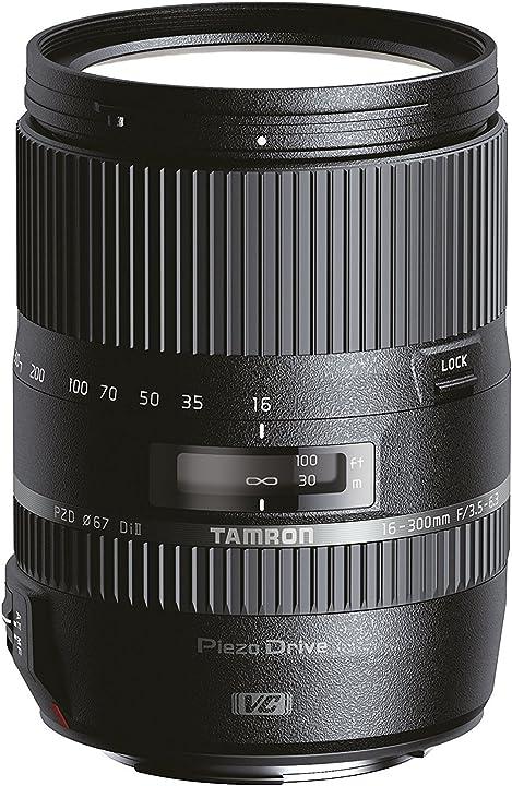 Obiettivo ultra-zoom, macro per aps-c canon, f/3.5-6.3 di il vc e pzd tamron af 16-300 mm B016E