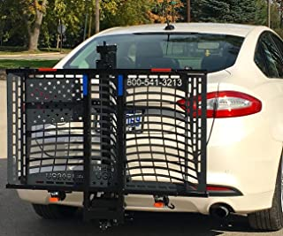 Patriotic Electric Lift US208 Electric Scooter Auto Lift Hitch Mount Carrier Veterans