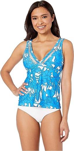 Waimea Bay Blue Tankini Top