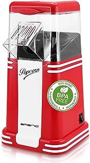 Emerio Machine à pop-corn - Délicieux pop-corn pour la maison - Rapide et facile - 60 g de maïs par passage - 1200 W - Net...
