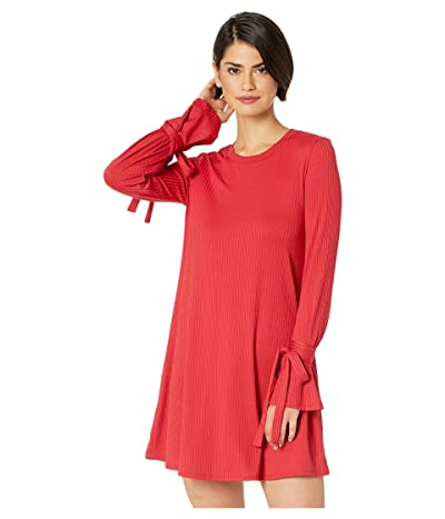 BCBGeneration Tent Dress with Sleeve Ties (American Red) Women