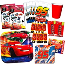 Disney Cars Party Supplies Value Pack - Cars Birthday Party Plates, Party Favors, Cups and More (Disney Cars Party Supplies)