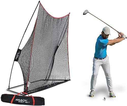 Rukket 10x7ft Haack Golf Net | Practice Driving Indoor and Outdoor | Golfing at Home Swing Training Aids | by SEC Coa...