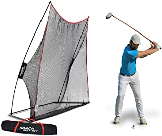 Rukket 10x7ft Haack Golf Net | Practice Driving Indoor and Outdoor | Golfing at Home..