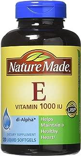 Nature Made Vitamin E 1000iu di-Alpha 120 Liquid Softgels