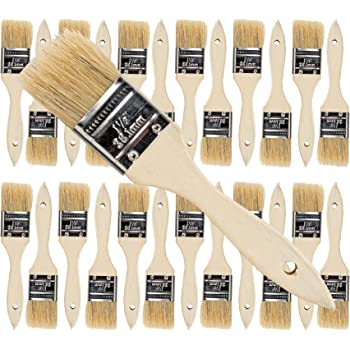 Pro Grade - Chip Paint Brushes - 24 Ea 1.5 Inch Chip Paint Brush