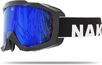 NAKED Optics Gafas de esquí Gafas de Snowboard para Hombres y Mujeres - Espejo, antivaho y con Capacidad para OTG - Gafas de esquí para Hombres y Mujeres (Edge)