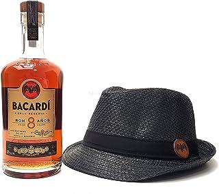 Bacardi Rum 8 Anos 0,7l 700ml 40% Vol  Strohhut schwarz