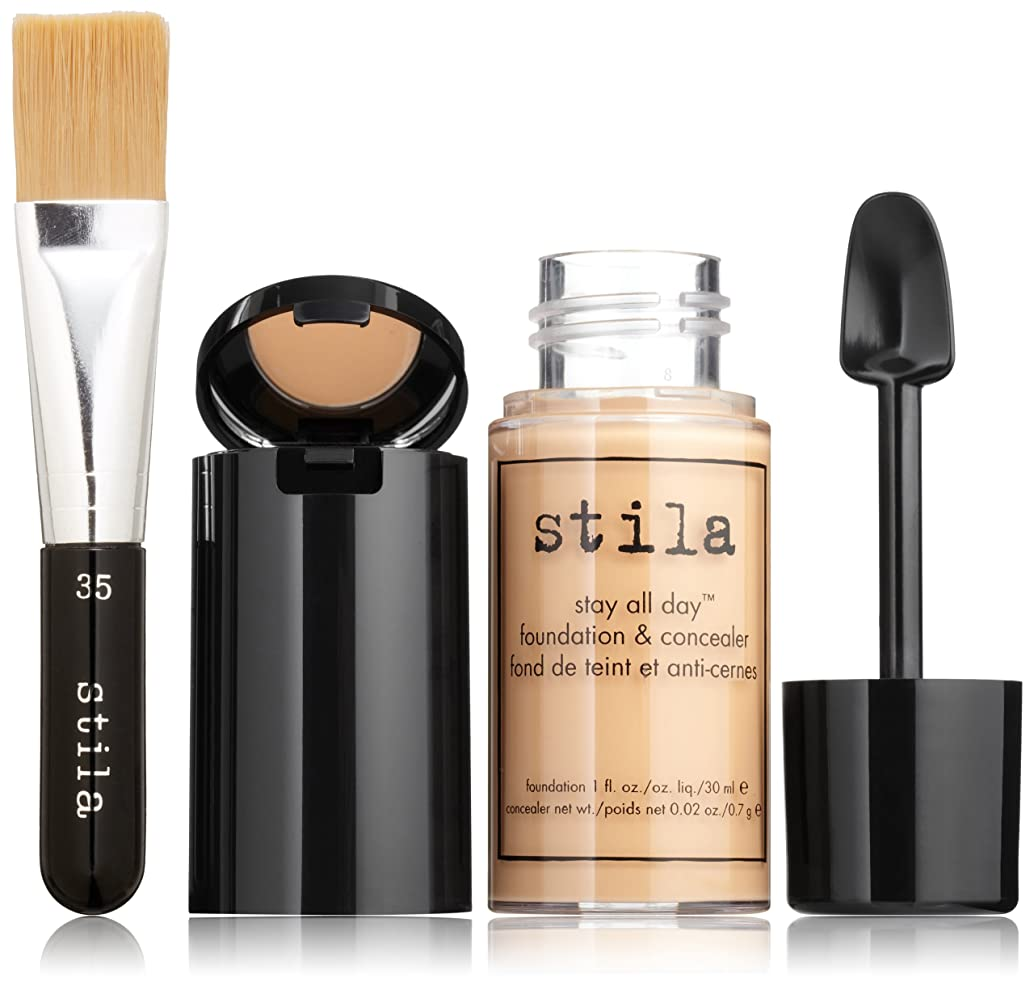 肝モルヒネ椅子スティラ Stay All Day Foundation, Concealer & Brush Kit - # 6 Tone 2pcs並行輸入品