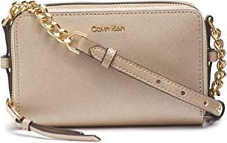 Calvin Klein Marybelle Saffiano Double Zip Organizational Crossbody