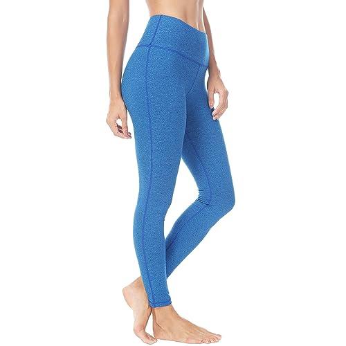 115dfee429 QUEENIEKE Women Power Stretch Leggings Plus Size Medium Waist Yoga Pants  Hidden Pocket Running Tights