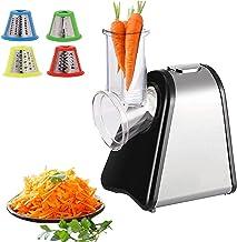 Râpe de cuisine électrique | 200 W | 4 embouts | Tambour en acier inoxydable | Mandoline électrique robot de cuisine râpe ...