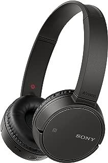 Sony 索尼 WH-CH500 无线蓝牙NFC蓝牙耳机,20小时电池续航时间 - 黑色