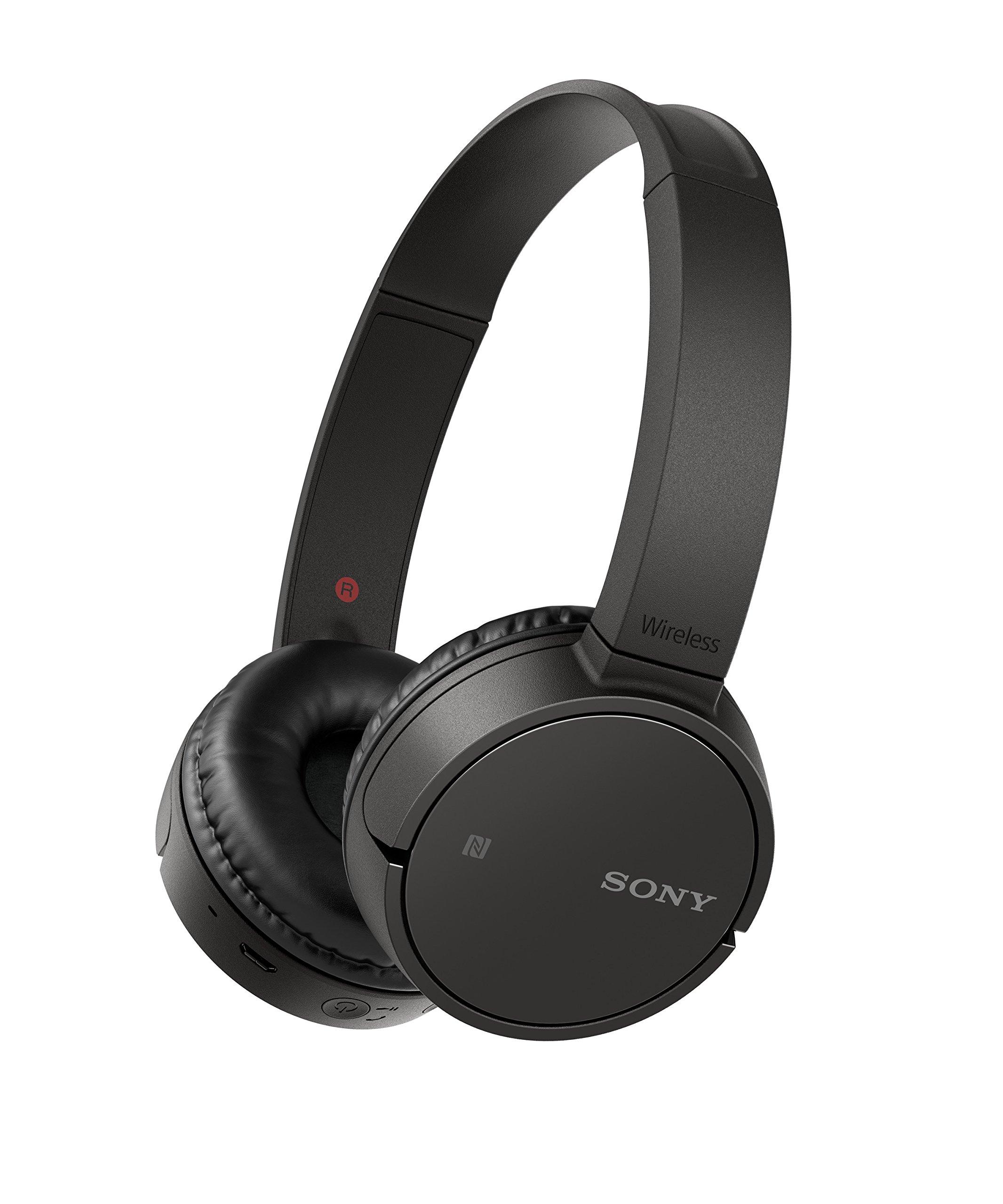 ソニーソニーWH-CH500ワイヤレスBluetooth NFC Bluetoothヘッドセット、20時間のバッテリー寿命 - ブラック