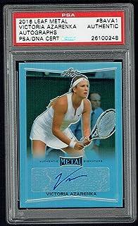 Victoria Azarenka signed autograph auto 2016 Leaf Metal Tennis PSA Slabbed