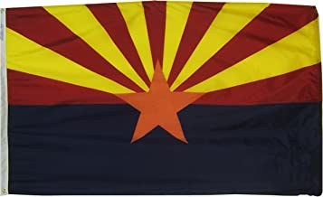 Annin Flagmakers Model 140260 Arizona State Flag 3x5 ft. Nylon SolarGuard Nyl-Glo 100% Made in USA to Official State Design Specifications.