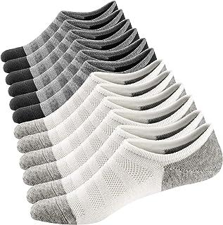Ueither, Calcetines Cortos para Hombre y Mujer Invisibles Respirable Calcetines tobilleros Algodón Antideslizantes