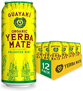 Guayaki Yerba Mate | Organic Alternative to Herbal Tea, Coffee and Energy Drink | Enlighten Mint | 150 mg of Caffeine | 15...
