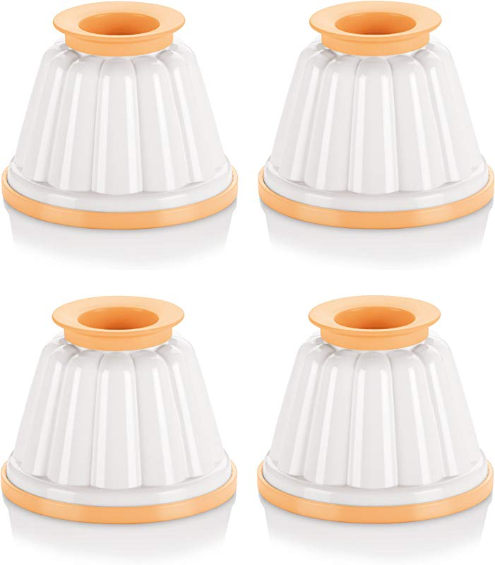 Tescoma Set Of 4 Pudding Cups With Lids Puddings Mold Custard Cups 5 07oz