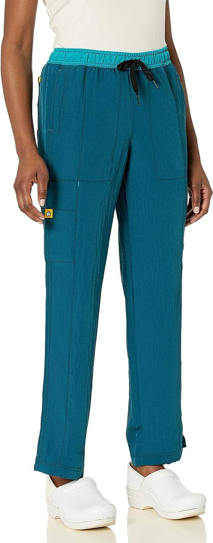 WonderWink Women's 卓越 Size Four-Stretch Straight 格安 Scrub Leg Pant Ta