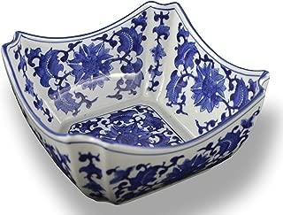 Blue and White Square Octagon Serving Bowls, Salad Bowls, Fruit Bowls (9