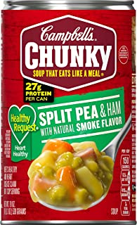 Campbell's Chunky Healthy Request Soup, Split Pea & Ham, 19 Ounce (Pack of 12) (Packaging May Vary)