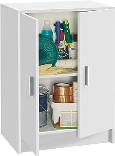 Habitdesign 005149O - Mueble Armario Multiusos bajo 2 Puertas Color Blanco Medidas: 59 cm (Largo) x 80 cm (Alto) x 37 cm...