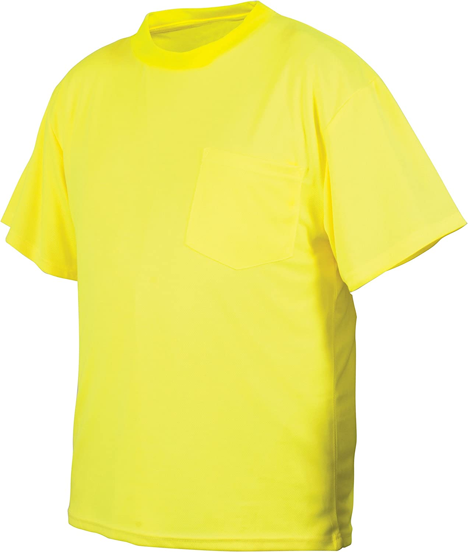 Pyramex RTS2110NSX5 RTS21NS Series T-Shirt No Hi-Vis Reflec Ranking TOP16 Lime All items free shipping