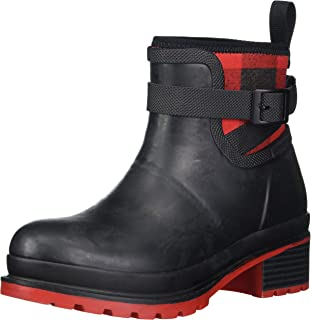 Muck Boot Women's Liberty Ankle Rain Boot, Black, 6