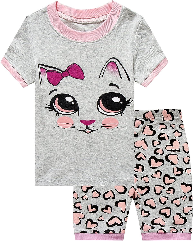 Girls Max 42% OFF Sales Short Pajamas Snug Fit Toddle Cotton Sleepwear Summer 100%