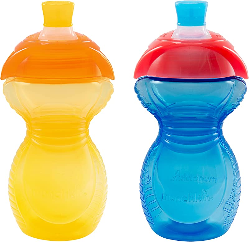 Munchkin Click Lock Bite Proof Sippy Cup Yellow Blue 9 Ounce 2 Count
